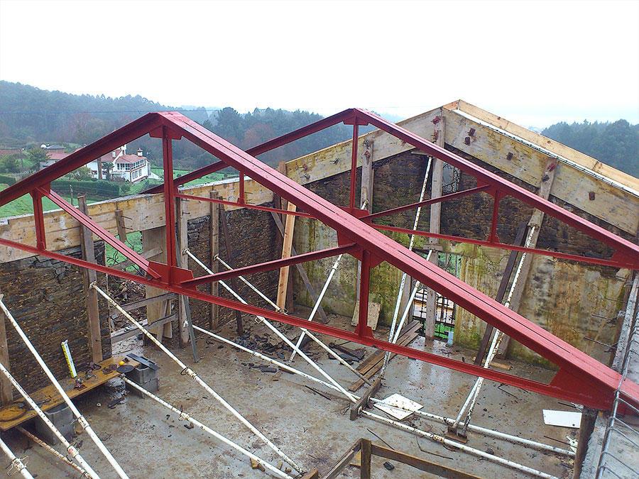 Construcciones met licas crugar en a coru a - Cerchas metalicas para cubiertas ...
